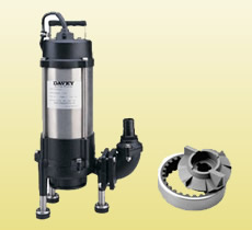Submersible Grinder Pump with grinder & shredder ring