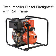 Twin Impeller Diesel Firefighter® with Roll Frame